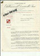 91 - Essonne - Corbeil - Facture Decauville Ainé - Marquette Les Lille - Ecusson à Damiers  - 1939.. - Réf 43 - - France
