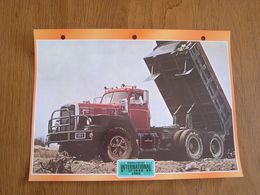 INTERNATIONAL  F 230 D 1969  USA Trucks Trailers Transport Fiche Descriptive Camion Truck Camions - Autres