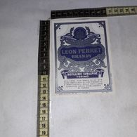 TL0266 DISTILLERIE SUBALPINE TORINO LEON PERRET BRANDY - Etiquettes
