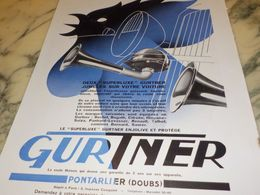 ANCIENNE  PUBLICITE  DEUX SUPERLUXE GURTNER 1933 - Transporto