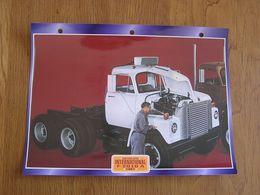 INTERNATIONAL  F 2010 A 1967  USA Trucks Trailers Transport Fiche Descriptive Camion Truck Camions - Autres