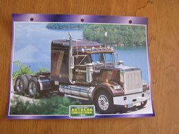 AUTOCAR CONVENTIONAL  1980  USA Trucks Trailers Transport Fiche Descriptive Camion Truck Camions - Autres