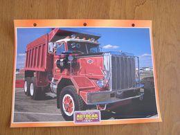 AUTOCAR CONVENTIONAL  DC 9364  1973  USA Trucks Trailers Transport Fiche Descriptive Camion Truck Camions - Autres