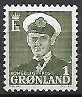 GROENLAND    -   1950  .  Y&T N° 19 **.    Frédéric  IX. - Groenland
