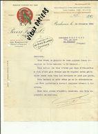 33 - Gironde - Bordeaux - Lettre à Entete - Pivert Frères - 116 Quai De Paludate - Vignette Oiseau   - 1924.. - Réf 43 - - France