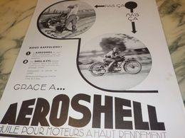 ANCIENNE PUBLICITE HUILE SHELL PAS CA MAIS CA 1933 - Transporto