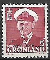 GROENLAND    -   1950  .  Y&T N° 20 **.    Frédéric  IX. - Groenland
