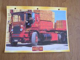 AUTOCAR CONVENTIONAL  2 Tons 1926 USA Trucks Trailers Transport Fiche Descriptive Camion Truck Camions - Autres
