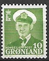GROENLAND    -   1950  .  Y&T N° 21 **.    Frédéric  IX. - Groenland