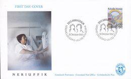 Greenland Ersttags Brief Premier Jour Lettre FDC Cover 1992 Kampf Gegen Den Krebs Struggle Against Cancer - FDC