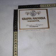 TL0275 DISTILLERIE SUBALPINE TORINO GRAPPA MALVASIA PIEMONTE - Etiquettes