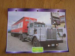 WESTERN STAR  4864 FX 1991  USA Trucks Trailers Transport Fiche Descriptive Camion Truck Camions - Autres