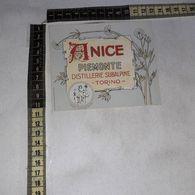 TL0275 DISTILLERIE SUBALPINE TORINO ANICE PIEMONTE - Etiquettes