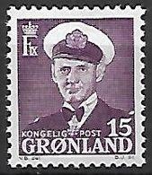 GROENLAND    -   1950  .  Y&T N° 22 **.    Frédéric  IX. - Groenland