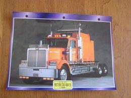 WESTERN STAR 4964 EX  1996  USA Trucks Trailers Transport Fiche Descriptive Camion Truck Camions - Autres