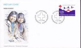 Greenland Ersttags Brief Premier Jour Lettre FDC Cover 1993 Red Cross Rote Kreuz Croix Rouge Cruz Roja - FDC