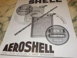 ANCIENNE PUBLICITE HAUT RENDEMENT  AEROSHELL  1933 - Transporto