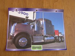 NAVISTAR INTERNATIONAL   9300 Eagle 1995  USA Trucks Trailers Transport Fiche Descriptive Camion Truck Camions - Autres