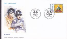 Greenland Ersttags Brief Premier Jour Lettre FDC Cover 1993 Scouts Pfadfinder - FDC