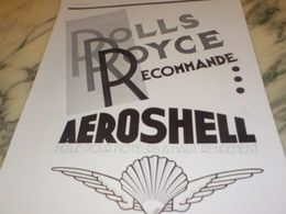ANCIENNE PUBLICITE ROLLS ROYCE RECOMMANDE  AEROSHELL  1933 - Transporto