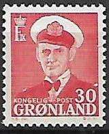 GROENLAND    -   1950  .  Y&T N° 23 B **.    Frédéric  IX. - Groenland