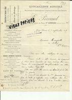 87 - Haute Vienne - Saint Léonard - Facture E.Pécaud - Quincaillerie Agricole   - 1919.. - Réf 43 - - France