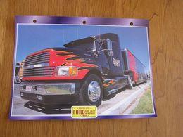 FORD  A/AT 9522 Aéromax 1996  USA Trucks Trailers Transport Fiche Descriptive Camion Truck Camions - Autres