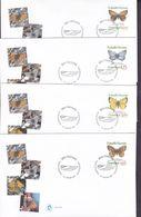 Greenland Ersttags Brief Premier Jour Lettre FDC Cover 1997 Schmetterling Butterfly Papillon Complete Set !! - FDC