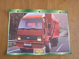 FORD  Cargo 1982  USA Trucks Trailers Transport Fiche Descriptive Camion Truck Camions - Autres