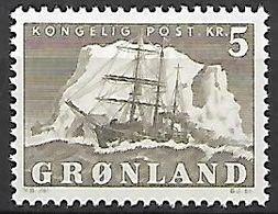 """GROENLAND    -   1950  .  Y&T N° 27 **.   Bateau   """" Le Gustav Holm """" - Groenland"""