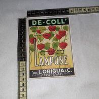 TL0280 SUCC. L. ORIGLIA & C. RIVOLI TORINO DE-COLL SCIROPPO AL SUCCO DI LAMPONE - Etiquettes