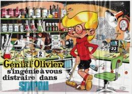 """POSTER """" GENIAL OLIVIER """" Supplement Au Spirou N° 1824  De  1973 - Spirou Magazine"""