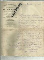 52 - Haute Marne - Nogent - Facture M.Dansac - Fournitures Pour Coutellerie   - 1898.. - Réf 43 - - 1800 – 1899