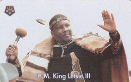 Lesotho, LS-LST-0004, King Letsie III, 2 Scans. - Lesotho