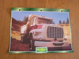 FORD  Louisville LTS 9000 1974  USA Trucks Trailers Transport Fiche Descriptive Camion Truck Camions - Autres