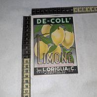 TL0284 SUCC. L. ORIGLIA & C. RIVOLI TORINO DE-COLL SCIROPPO DI LIMONE - Etiquettes
