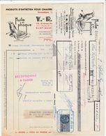 St Maur Des Fossés - Y.R.Razin - Produits D'entretien Pour Chaussures - Huile Au Phoque - + Traite - 1955 - France