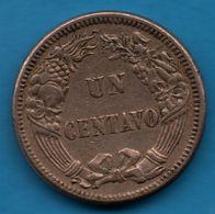 PERU 1 CENTAVO 1863 KM# 187.1 - Pérou