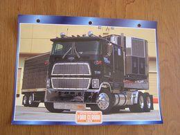 FORD  CL 9000 1978  USA Trucks Trailers Transport Fiche Descriptive Camion Truck Camions - Autres