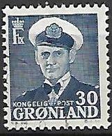 GROENLAND    -   1950  .  Y&T N° 23 A Oblitéré.  Frédéric IX - Groenland