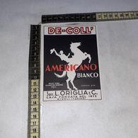 TL0287 SUCC. L. ORIGLIA & C. RIVOLI TORINO DE-COLL AMERICANO BIANCO - Etiquettes