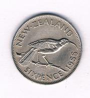 6 PENCE 1955 NIEUW ZEELAND /5474/ - Neuseeland