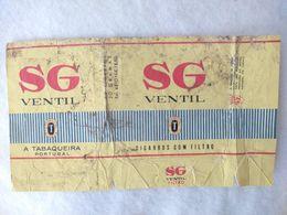Paquet De Cigarettes Vide Cigarrettes SG Ventil Portugal OLD  #14 - Empty Cigarettes Boxes