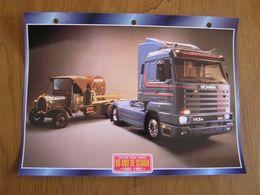90 ANS De SCANIA 1902 1992 Trucks Trailers Transport Fiche Descriptive Camion Truck Camions - Autres
