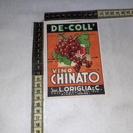 TL0289 SUCC. L. ORIGLIA & C. RIVOLI TORINO DE-COLL VINO CHINATO - Etiquettes