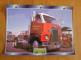 INTERNATIONAL  C 405 L 1958  Trucks Trailers Transport Fiche Descriptive Camion Truck Camions - Autres