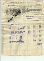 97 - Haute Vienne - Limoges - Facture Vve. Ch.Maridet & Fils - 10 Rue Du Chinchauvaud   - 1930.. - Réf 43 - - France