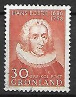 GROENLAND    -   1958  .  Y&T N° 32 Oblitéré.   Hans  Egede. - Groenland