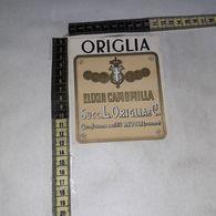 TL0293 SUCC. L. ORIGLIA & C. RIVOLI TORINO DE-COLL ELIXIR CAMOMILLA - Etiquettes