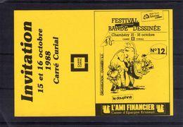 Festival Bande Dessinée Chambéry. Invitation. 15 Et 16 Octobre 1988 - Tickets - Vouchers